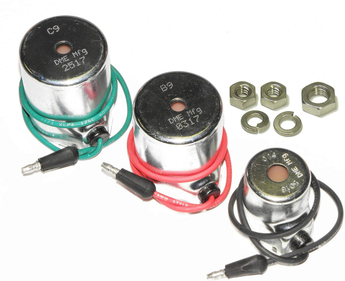 DME Manufacturing Meyer Snow Plow Coil Set: A014 15659; B9 15382; C9 15430 Aftermkt, Optional 18-8 Stainless Steel Nuts Included