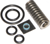 DME Manufacturing Meyer Snow Plow Solenoid Valve + Crossover Relief Valve Spring & Seal Kit; for E47, E57, E60 Pump Blade, Optional 18-8 Stainless Steel Nut & Lock Washer Included