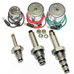 """DME Mfg, MEYER Snow Plow Coil & Valve Set (A12 3/8"""" Tube) for E47, E57, E60, Pumps, Brand New Aftermkt, Optional 18-8 Stainless Steel Nut & Lock Washer Included"""