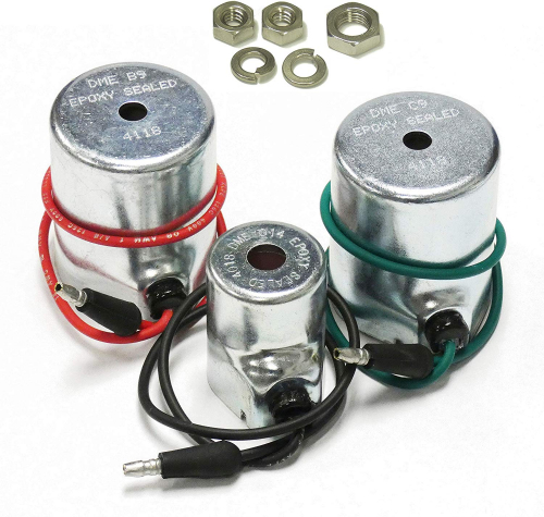 EPOXY Sealed - Meyer Snow Plow Coil Set: DME 014 15659; DME B9 15382; DME C9 15430, Optional 18-8 Stainless Steel Nut & Lock Washer Included